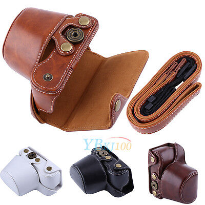 PU Leather Camera Case Bag For Sony A5000/A5100/NEX3N And 16-50mm Camera Lens