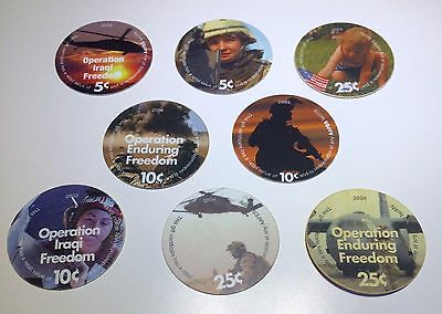 8 AAFES 2003 & 2004  POGS From KAF 2005
