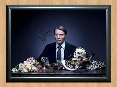 Mads Mikkelsen Dr Hannibal Lecter Show Signed Autographed A4 Print Photo Poster