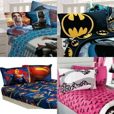 nEw DC COMICS BED SHEETS SET - Batman Justice League Bedding Sheets Pillowcase