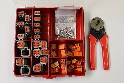Deutsch DTP Connector Kit 12 GA Solid Contacts With Crimp Tool 2 Pin and 4 Pin