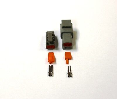 Deutsch DTM 2 Pin Connector Kit 20 GA Solid Contacts