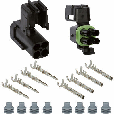 Weather Pack 4 Pin 16-14 AWG Square Connector Kit