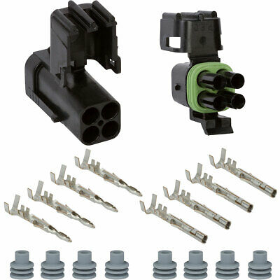 Weather Pack 4 Pin Square Connector Kit 16-14 GA