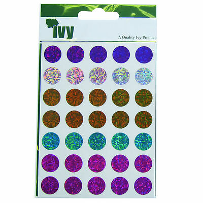 Dot Labels Holographic Shiny Self Adhesive Round Circle Stickers Fashion Colours