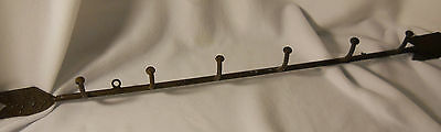 Antique Coat/Hat Rack-Cast Iron Hand Made-Arrow Shaped-FOLK ART MUST SEE