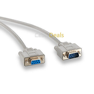 SERIAL EXTENSION CABLE LEAD 9 PIN DB9 MALE TO FEMALE RS232 2m