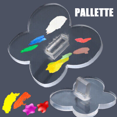 Clear Nail Art Palette Acrylic Butterfly UV Polish Painting Color Mixing Board