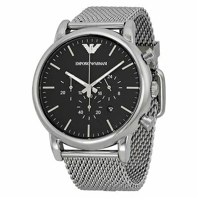 Emporio Armani Mens Classic Chronograph Stainless Steel Watch AR1808