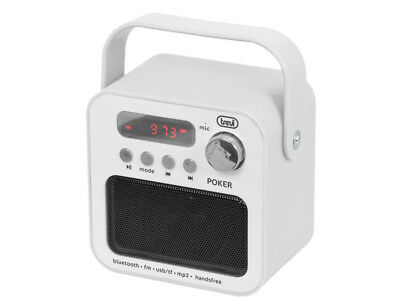 Radio portatile con Mp3 e Bluetooth Trevi DR 750 BT POKER Bianco