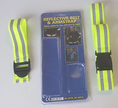 38mm Reflective Belt Safety Harness Strap High Visibility Running Walking Biking