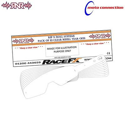 100% Rip N Roll Tear Offs 50 Pack For 100% Strata Accuri And Racecraft Goggles