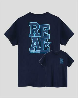 Real Skateboards Lock Down #2 T-Shirt | navy blau | Skate Backprint | S - XL