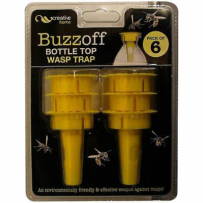 New Buzz Off 12 Pack Bottle Top Garden Wasp Bug Insect Trap Killer Catcher