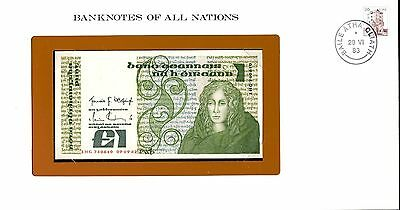 """Ireland ~ 1983 ~ 1 Pound  Note ~ Cu ~ """"banknotes Of All Nations"""""""