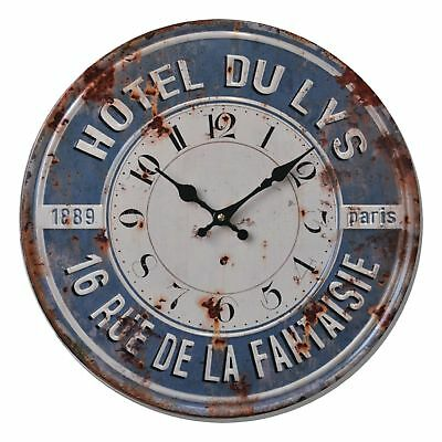 Shabby Chic Vintage Style 40cm Wall Clock Large French Hotel Kitchen Room Home