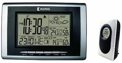 Wireless Weather Station Forecast Thermometer Humidity Sensor Indoor Outdoor