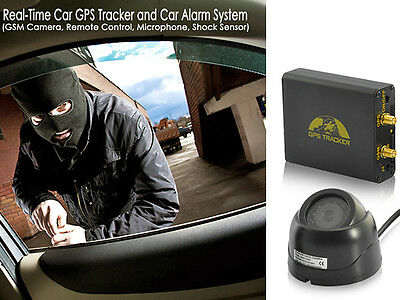 anti-theft Sensor Car Vehicle Alarm and Tracking System w/ CCTV Camera, Remote
