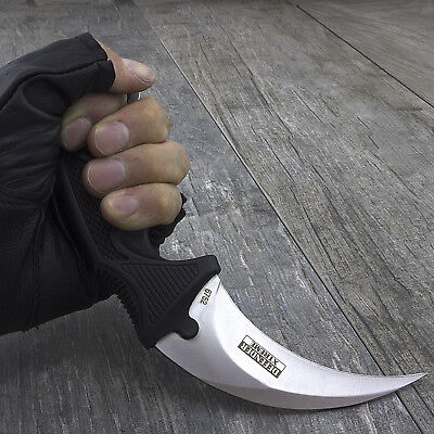 "7.5"" KARAMBIT TACTICAL COMBAT NECK KNIFE Survival Hunting Fixed Blade Military"