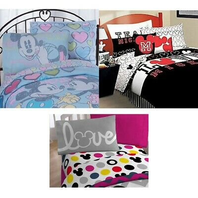 nEw DISNEY MICKEY MOUSE BED SHEETS SET - Minnie Friends Bedding Pillowcase