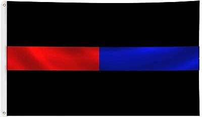 First Responders Flag 3x5 ft Thin Blue & Thin Red Line Paramedics Police Firemen