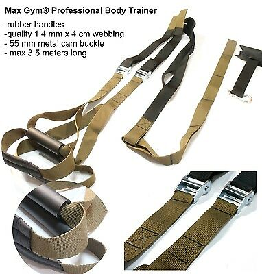 MaxGym® Trainer. Suspension straps training. Body trainer. MMA Trainer Military