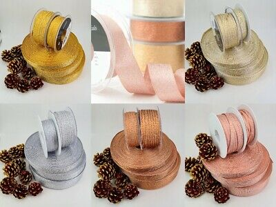 Ribbon Metalic Woven Lame By Berisfords 3mm 7mm 15mm 25mm 40mm