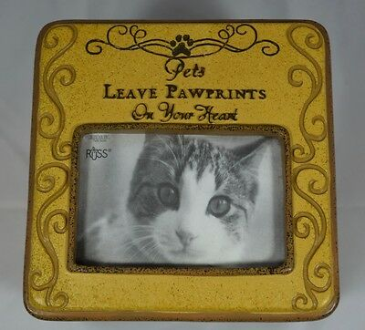 NEW Russ Berrie Cat Memorial Photo Box #E72647
