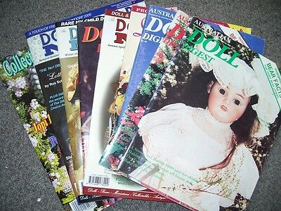 6 x Aussie DOLL COLLECTING Magazines - VGC. Mixture!