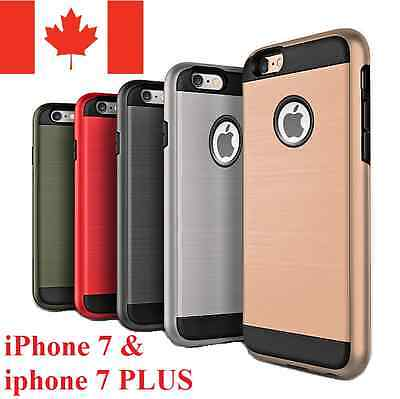 iPhone 7 Case & 7 PLUS Case - Hybrid 2-1 Brushed Shockproof Heavy Duty Cover