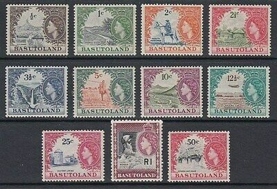 BASUTOLAND 1961-63 QEII NEW CURRENCY SET (x11) MINT (ID:G3712)