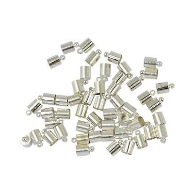 50pcs End Caps Bead Stopper Fit 5mm Leather Cord Craft Jewelry Marking
