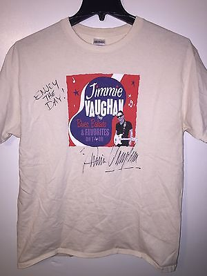 JIMMIE VAUGHAN - SIGNED T Shirt Autograph Tour Stevie Ray Blues