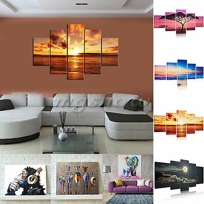 Large Night Beach  Sunset Canvas Print Wall Art Painting Picture Decor No frame