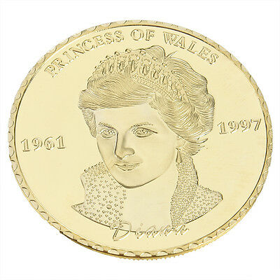 1pc Diana Princess Of Wales Rose Gold Commemorative Coin Collectible Gift