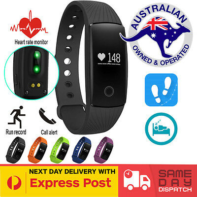 ID107 Smart Fitness Heart Rate Monitor Band Activity Tracker FitBit Style