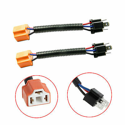 2X H4 9003 Wiring Harness Adpter Sockets Cable Wire for Headlights A H Wiring Harness on