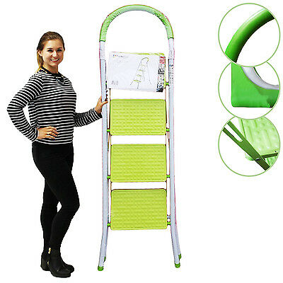 Heavy Duty Foldable 4 Step Safe Ladder Kitchen Stool Tread Portable (Si-Hh1009)