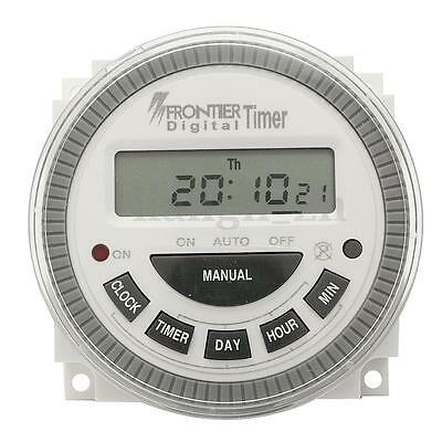 AC Electronic Programmable Timer 220V-240V Digital LCD Power Time Switch Program