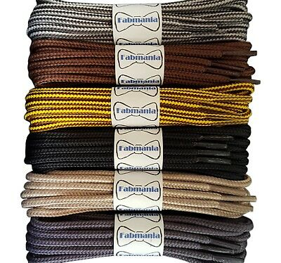 Strong Boot Laces - Caterpillar Yellow Brown Grey Cream stripes