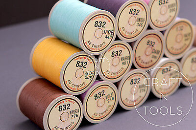 "New Sajou Fil au Chinois ""Lin Cable"" Waxed Linen Thread #832. Leather Work Cord"