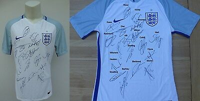 2016-17 England Home Shirt signed by Squad - Complete Signature Map & COA (9228)