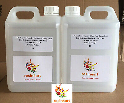 4.0kg Low Viscosity Ultra-Clear Epoxy Resin [UV Resistant]