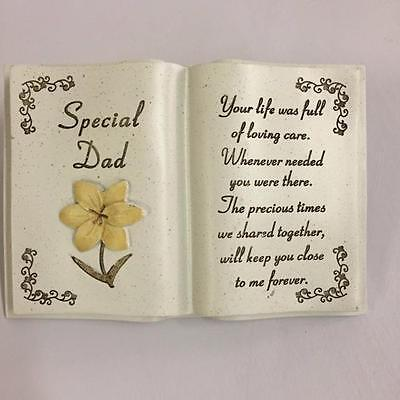 New SPECIAL DAD MEMORIAL BOOK WITH LILY Graveside Funeral Remembrance Grave