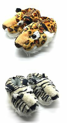 Unisex King Tiger Lion Animal Novelty Funny Slippers All Sizes