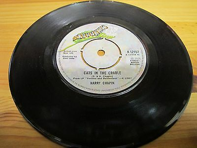 """K 12157 Uk 7"""" 45Rpm 1974 Harry Chapin """"cats In The Cradle / Shooting Star"""" Ex"""