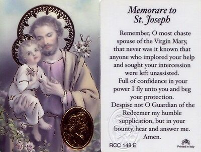 Memorare Saint Joseph Wallet Laminated Catholic Prayer Card Holy Cards RCC148E