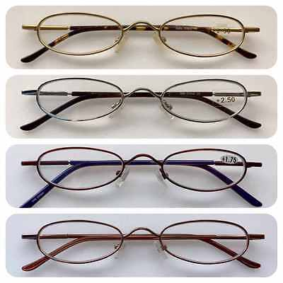 A46 Thin Reading Glasses/Spring Hinges/Ultra Long Plastic Wrapped Arms Vintage
