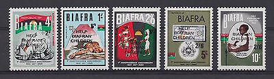 "BIAFRA - 1968 ""Help Biafran Children"" + surcharges - MNH/VF - See note in Scott"