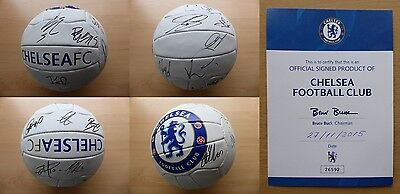 2015-16 Chelsea Football Signed by Squad with Official COA + extras (9231)
